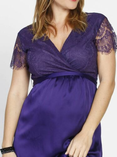 Maternity Mid Length Lace Party Dress Violet