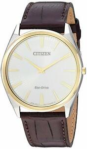 Citizen-Eco-Drive-Stiletto-Men-039-s-Gold-Tone-Case-38mm-Watch-AR3074-03A
