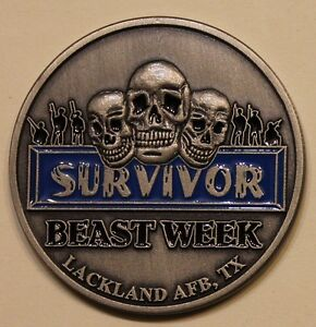 Details about Survivor Beast Week Lackland Air Force Base Basic Training  Challenge Coin