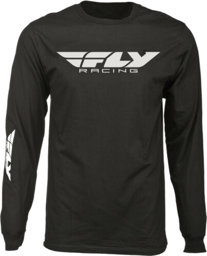 Choose Size Black FLY RACING Offroad CORPORATE Long Sleeve Premium Fit T-Shirt