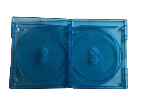 6 Tray New MegaDisc 15mm Blu-ray Replacement Case Holds 6 Discs 5 Pack Premium