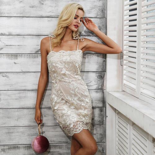 S Cerimonia Party Dress Sequin Abito Pailette Aperto Nudo Ricamato Aderente Sw6qzO