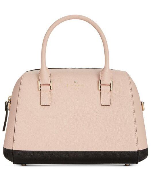 New Kate Spade Greene Street Seline Satchel Leather Bag Au Natural Tote Black