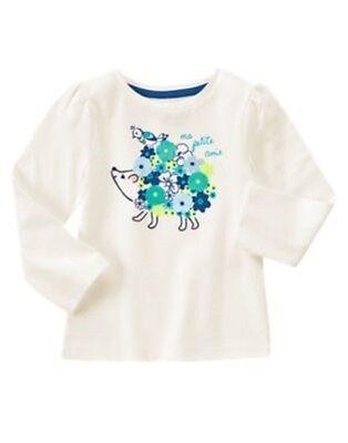 Gymboree Happy Bluebird Gray White Stripe Shirt Top Bird Size 2T 3T 4T 5T NEW