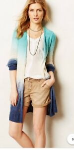 Open Ombre Moth Nwt Cardigan Tides M Strikket Anthropologie Tonal A7Twqgx