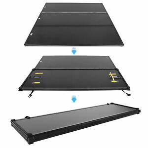 Tri-Fold Hard Tonneau Cover For 2015-19 Ford F150 F-150 Super Crew Cab 5.5ft Bed