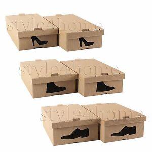 STYLISH-Cardboard-Storage-SHOE-BOXES-Underbed-WARDROBE-Foldable-ORGANISER