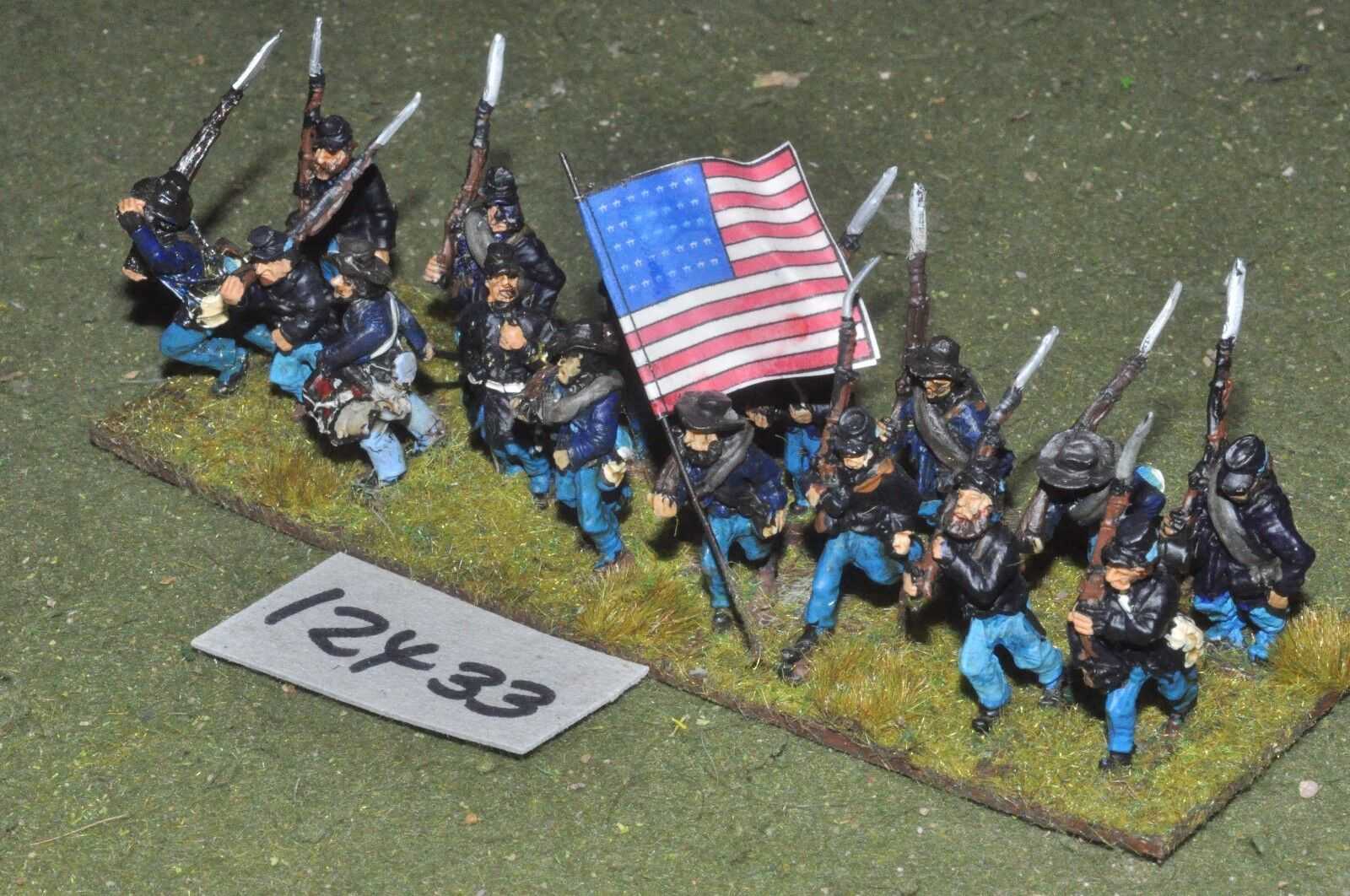 25mm ACW   union - american civil war infantry 16 figures - inf (12433)