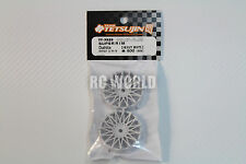 RC Car 1/10 DRIFT WHEELS RIMS Adjustable Offset  3mm-6mm-9mm -WHITE MESH -4 RIMS