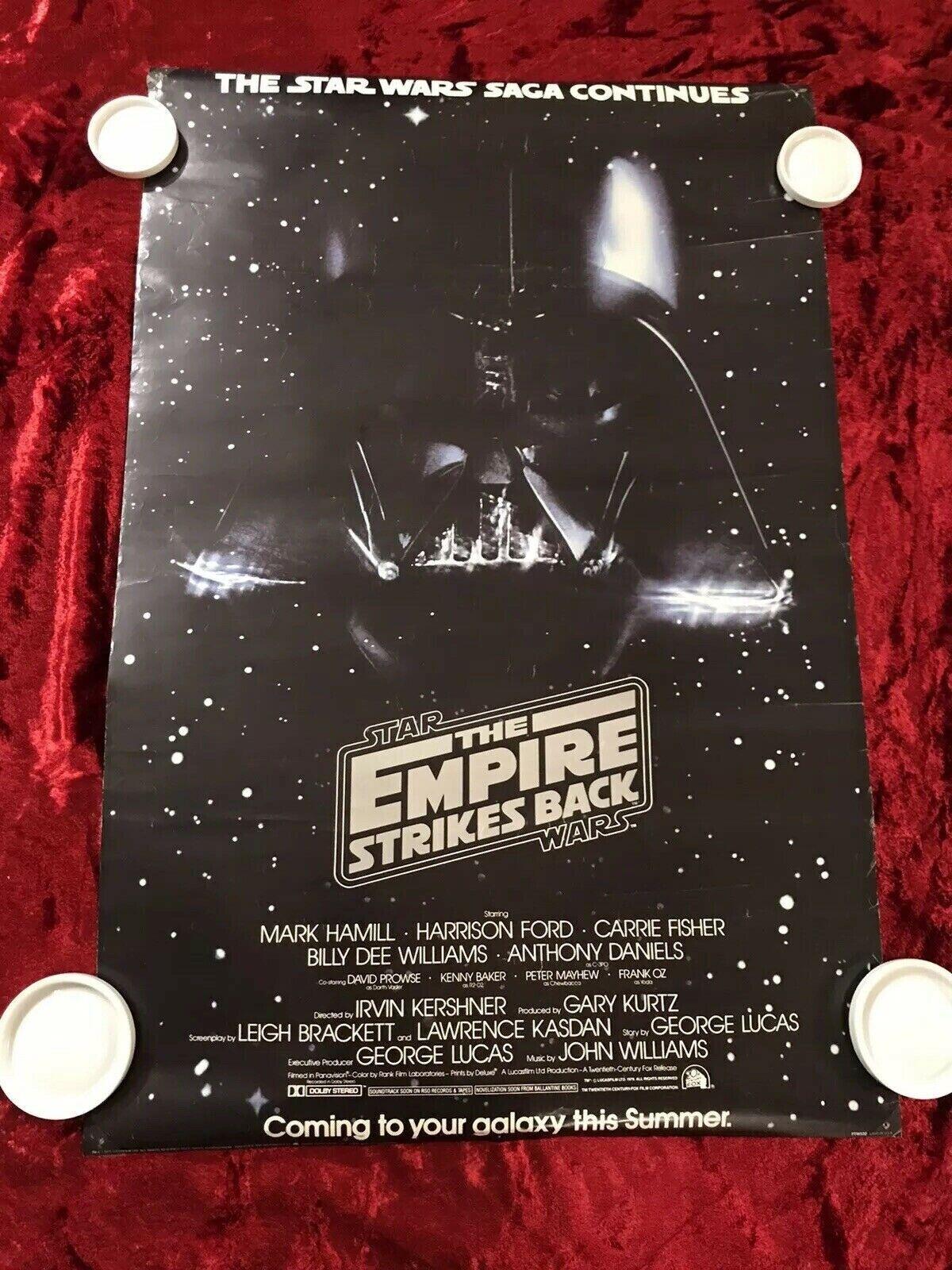 star wars EMPIRE STRIKES BACK movie poster DARTH VADER PRINCESS LEIA 24X36 SW0