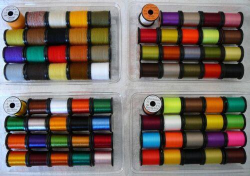 , Floss Tinsel Flies Fly Tying Thread Uni-Yarn-Floss-Stretch-Thread-Combo