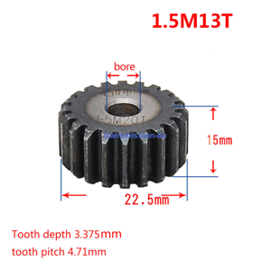 Pinion gear 20 Tooth 1//2 inch bore Spur gear