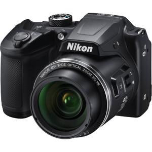A-Nikon Coolpix B500 Digital Zoom 40x cámara del puente: Negro reformado