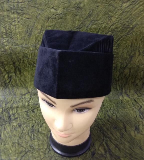 Men Islam Hat Semi-rigid Velveteen Kufi  Muslim Skull Cap Prayer Topi Koofi