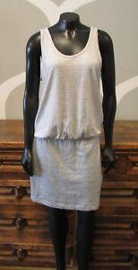 LOU-amp-GREY-Blue-White-Striped-Linen-Cotton-Blend-Skirted-Tank-Dress-Medium