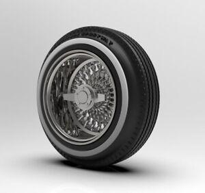 1:25 3d Printed Wire Wheel Deep Dish Wheel//Tire Set.