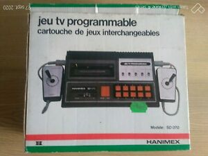 Rétro gaming console Hanimex SD-070 programmable tv-game console + 3 jeux