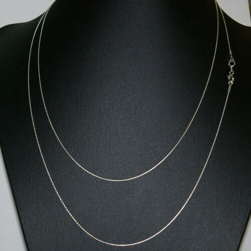 """40/"""" 102cm Sterling Silver 925 0.6mm Fine Chain Long Necklace Belly Chain"""