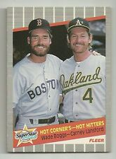1989 Fleer Wade Boggs Boston Red Sox #633 Carney Lansford Oakland A's