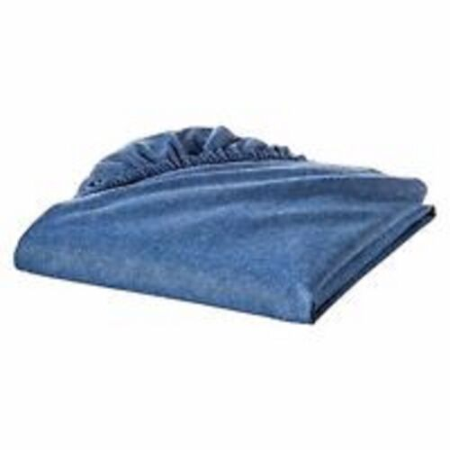 NIP TREND LAB BABY PLAID DEER DESIGN LINE BLUE DENIM LOOK CRIB TODDLER BED SHEET