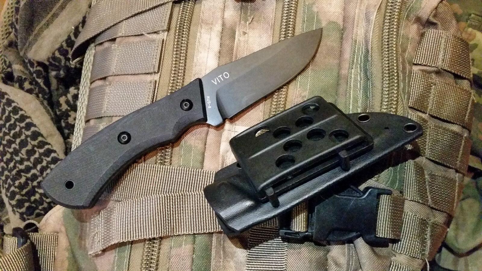 SERE Mr. Blade Vito Russisches Outdoor Outdoor Outdoor Survival Einsatz Messer AUS8 Stahl 33471a