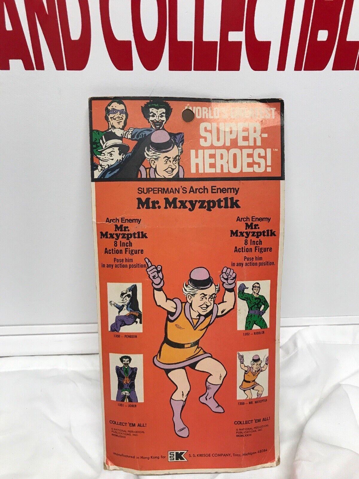 Mego original vintage 8 8 8 inch  Mr.Mxyzptlk ,Kresge Opened Bubble Type 1 LOOK c7a205
