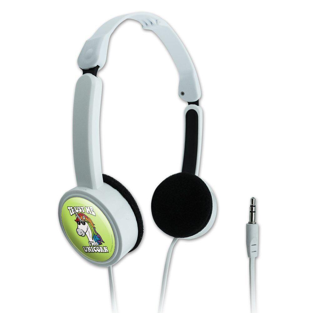 Trust Me I'm a Unicorn Funny Humor Travel Portable On-Ear Foldable Headphones
