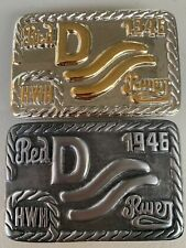 John Wayne Gold//Nickel Red River D Belt Buckle 1946 Movie Westerns Howard Hawks