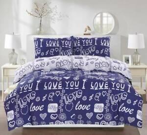 I-Love-You-Bedding-Set-Duvet-Cover-Pillow-Cases-Quilt-Cover-All-Sizes