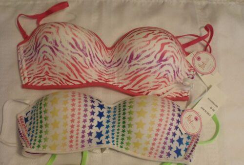 Flirtitude 38C 36C Pink Zebra Print or Beige Multi-Way Bandeau Bra Choice NWT