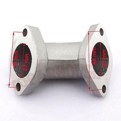 27mm Intake Manifold Pipe angled 0° For 125cc 140cc 150cc 160cc Pit Dirt Bikes