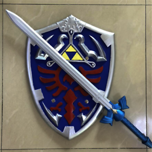 The-Legend-of-Zelda-Skyward-Sword-and-Shield-Set-Link-Safety-PU-Material-Gift-US