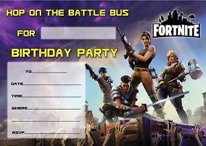 Fortnite Birthday Party Invitations Kids Invites