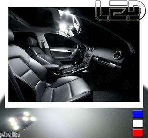 Peugeot-4007-Pack-9-Ampoules-LED-Blanc-Blanc-habitacle-Veilleuses-Plaque