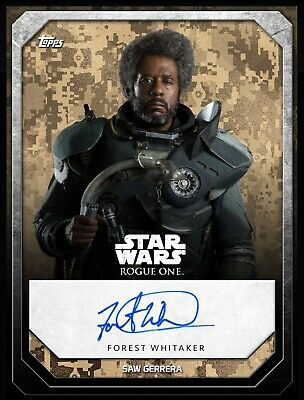 Topps Star Wars Digital Card Trader Galactic Heritage Rogue One Saw Signature