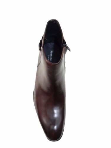 Kenneth Cole Mens T-Will Seeker Side Zip Business Casual Ankle Boots Dress Shoes