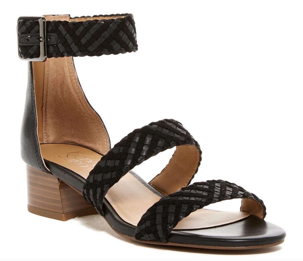 Franco Franco Franco Sarto Tate Donna  nero Leather Woven Sandal Sz 8M 4871 97fd9c