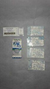 Lot-of-6-1980-039-s-Seattle-Seahawks-Mariners-Kingdome-Ticket-Stubs-1991-Huskies
