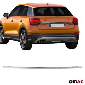 Kofferraumleiste-Heckleiste-fuer-Audi-Q2-2016-2020-Zierleiste-Chrom-aus-Edelstahl