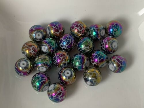 Rainbow metal perlas metalizado perlas Ángel 10 mm 20 trozo joyas bricolaje kb226