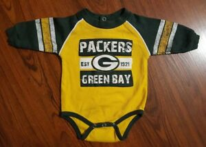 Baby Nfl Team Apparel Green Bay Packers One Piece Size 3 6 Months Ebay