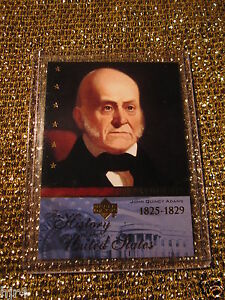 US-President-John-Quincy-Adams-1825-Upper-Deck-Hisotry-USA-Trading-Card
