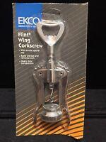 Vintage Ekco Flint Wing Corkscrew W/bottle Opener - Heavy Duty - Brand