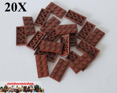 "20X Lego® 3020 Basic Steine Platten Plate 2X4 Rotbraun Reddish Brown /""NEU/"""