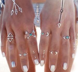 Trendy-6Pcs-Set-Silver-Plated-Boho-Fashion-Arrow-Moon-Midi-Finger-Knuckle-Rings