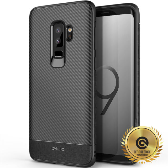 new style 961fe e6299 OBLIQ Samsung Galaxy S9 Flex Pro Black TPU Shockproof Slim Case Cover Carbon