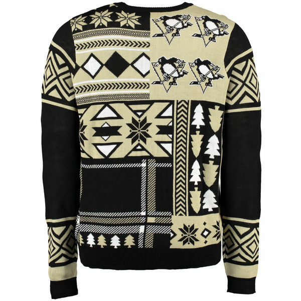 NHL PITTSBURGH Patches PENGUINS Alternate Patches PITTSBURGH Ugly Sweater Christmas Pullover daa341