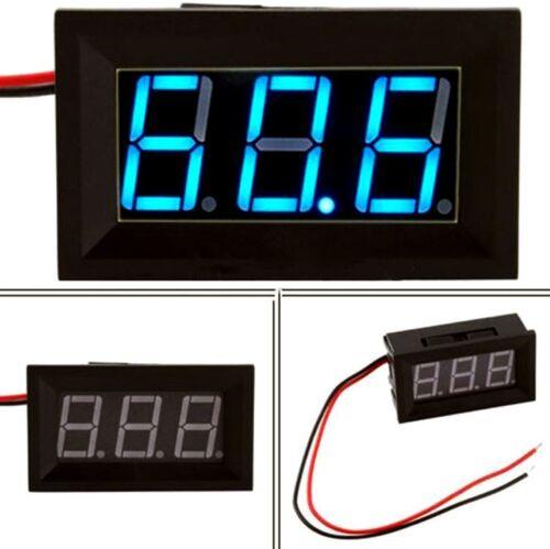 Voltmètre testeur 3 chiffres bleu DC 4,5-30 V Digital LCD voltmeter 3 digit