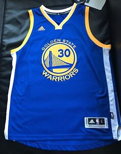 e49be9d3312 NWT NBA Stephen Curry Adidas Swingman Blue Road Jersey Size Adult ...