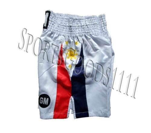 US//Philippines Flag Boxing Trunks Boxing Shorts Martial Arts Training Fitness